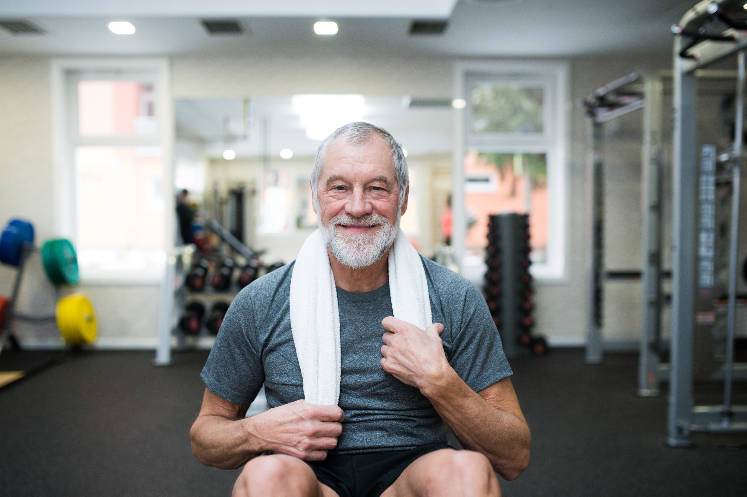 Trent Dementia image: photo of man in a gym