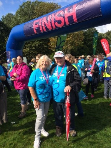 Trent Dementia image: Cynthia Litchfield with her husband Steve at a memory walk