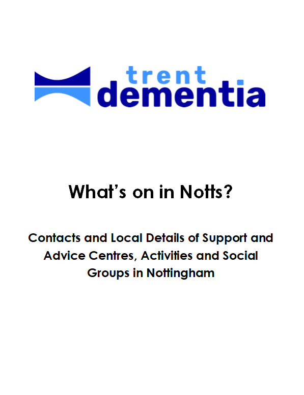 What's On In Notts leaflet by Trent Dementa