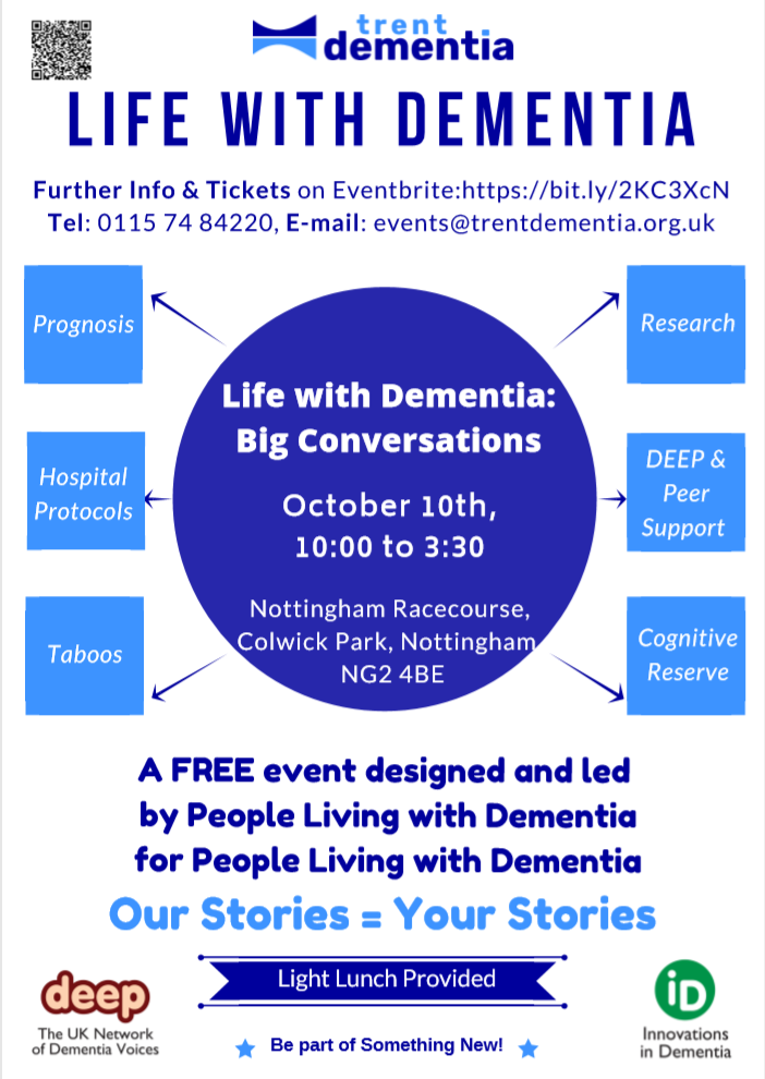Life with Dementia event poster