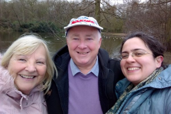 Cynthia Litchfield (Project Worker), Steve Litchfield (Facilitator of Friends for Life DEEP group), Ghazal Mazloumi (Project Development Worker) at our Nottingham DEEP Walking group, March 2020