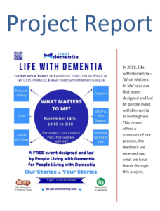 Life with Dementia project report 2018