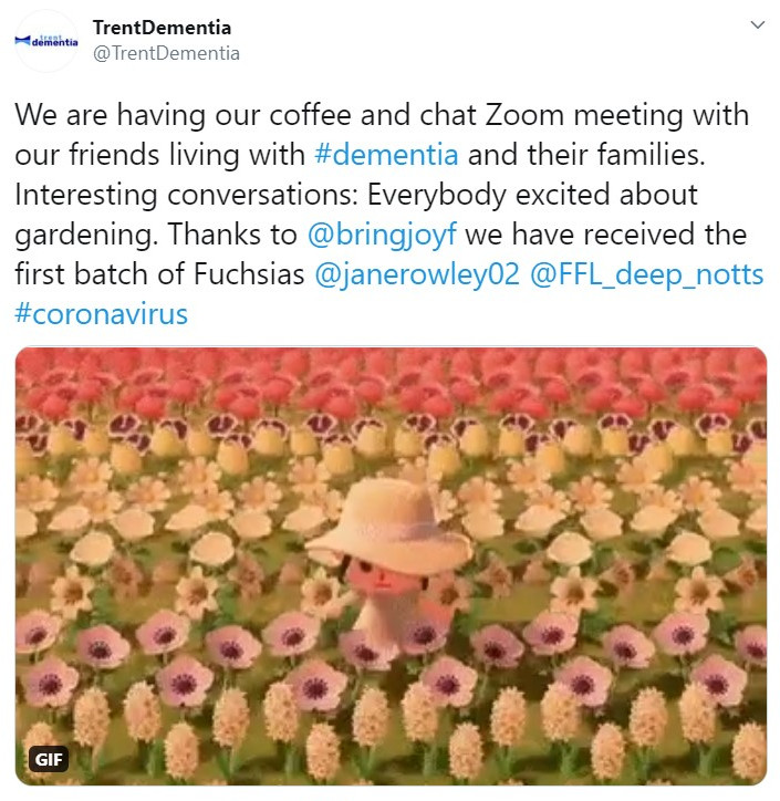 Coffee & Chat group received their first batch of Fuchsias for gardening 21st April 2020 (from Twitter)