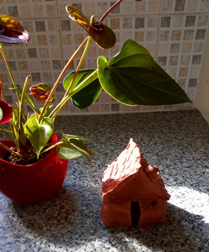 We learned how to make a house out of clay with people living with dementia and their families on 23rd June 2020.