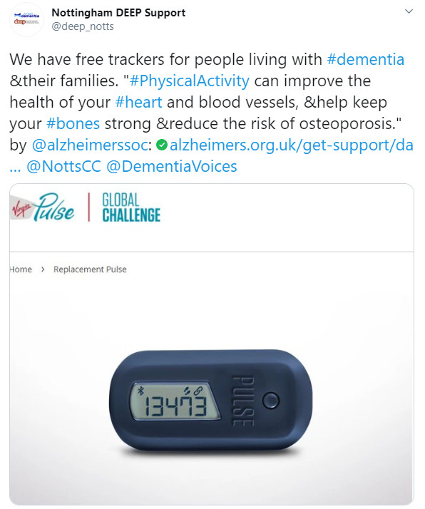 We gave out some free step counters to people living with dementia and their supporters.
