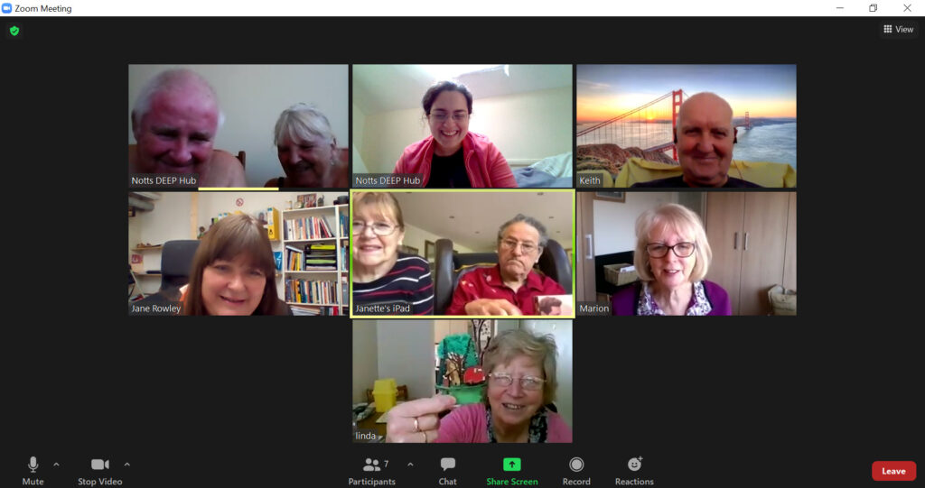 Friends for Life Zoom meeting