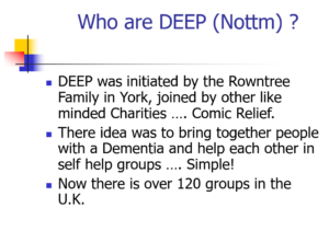 Screenshot from the Friends for Life DEEP Group presentation