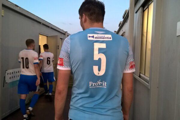Trent Dementia logo on a Cambridge City football shirt
